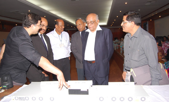 Launch of MTNL's Carrier Ethernet Network: PSA Dr. R. Chidambaram with CMD MTNL, AK Garg, CMD ECIL P. Sudhakar and Prof. Ashwin Gumaste