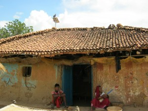 A solar powered home in a remote Bihar village
