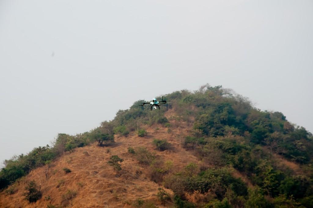 NETRAv2 UAV hill-side ops