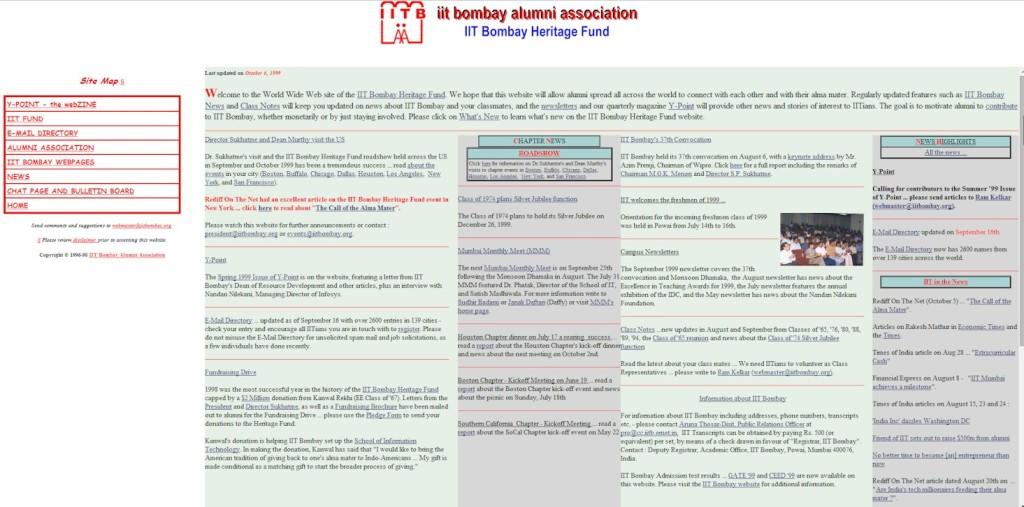 Website - 13th October 1999