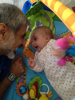 Funtime with granddaughter Zarine