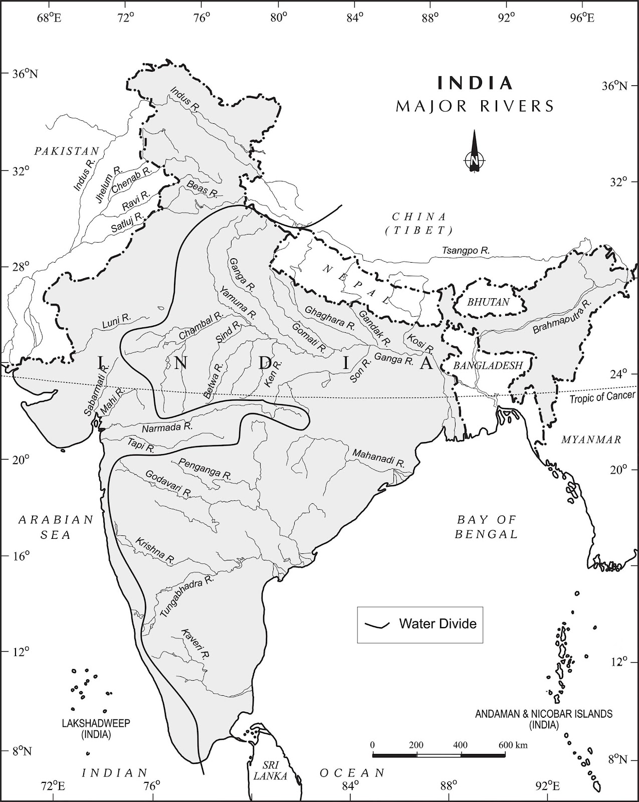 Major Rivers of India